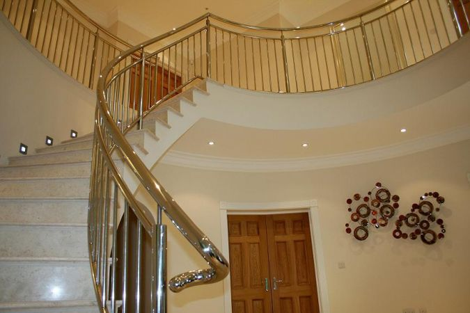 Stainless steel balustrade.